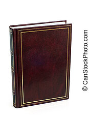 Blank brown book on a white background