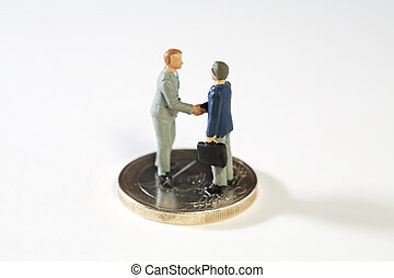 Agreement On New EU Fiscal Proposals. Two miniature models...