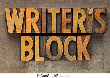 writer block in letterpress type - writer block - text in...