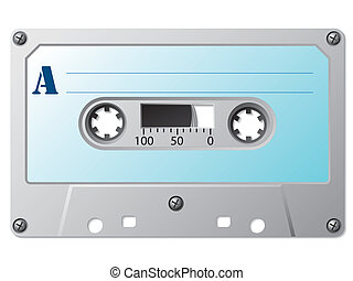 Classic music cassette with simple retro label