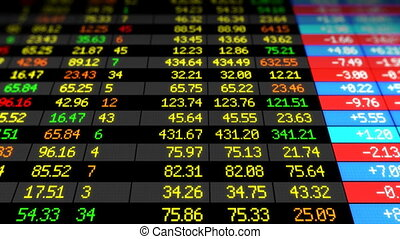 Stock Market board looped HD - Stock Market board moving up...
