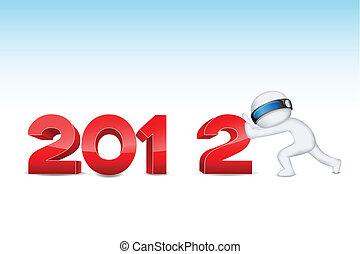 3d man pushing 2012