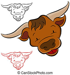 Bull Head - An image of a bull head.