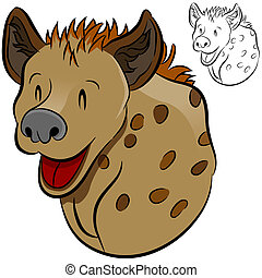 Hyena Wild Animal - An image of a cartoon hyena.