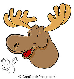 Moose Wild Animal - An image of a moose wild animal cartoon