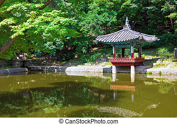 Pagoda in Changdeokgung Palace, Seoul, South Korea