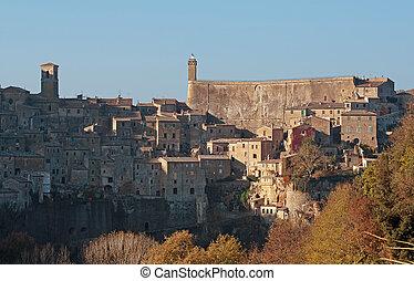 Sorano - Citta del tufo - Sorano seen from East