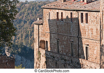 Sorano - Citta del tufo - Orsini fortress overlooking the...