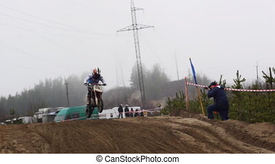 PETROZAVODSK, RUSSIA -May, 07: Motorcross extreme sport...