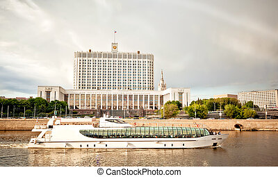 House of government in Moscow. View from quay