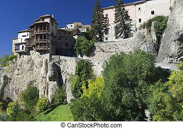 hanging houses of Cuenca - view of the hanging houses of...