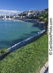 shell beach - Miramar Park in shell beach, San Sebastian,...