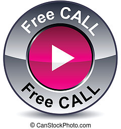 Free call round button.