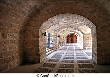 Dungeon - Underground passage in the Almudaina Palace Palma...