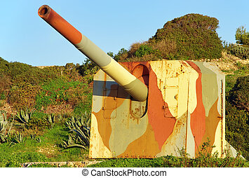 Cannon Battery - Cannon battery in a coastal defense line
