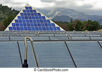 Solar Energy collectors in a techonological park