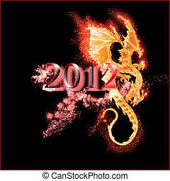 queimadura, dragão, 2012, ano