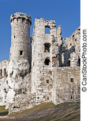 Castle ruins in Ogrodzieniec, Poland - The ruins of medieval...