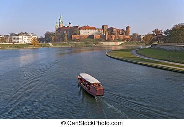 Wawel Castle and Vistula River