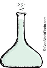 Beaker - Illustration of a laboratory beaker with bubbles...