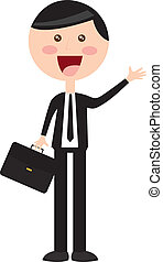 businessman with suit costume over white background vector