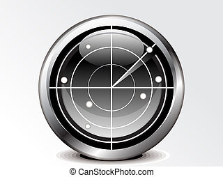 abstract radar icon vector illustration