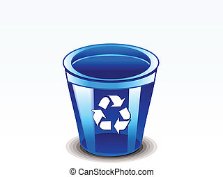 abstract glossy recycle bin vector illustration