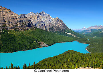 Peyto Lake of Canada - Magnificent blue waters of Peyto Lake...