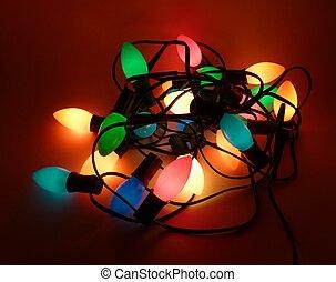 enredado, navidad, luces