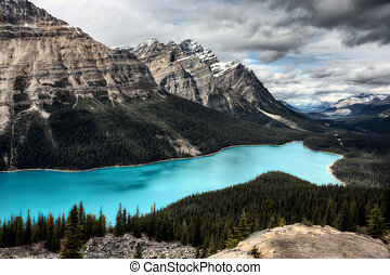 Peyto Lake Alberta Canada emerald green color