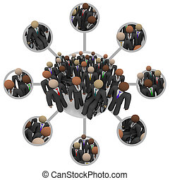 Diverse Workforce of Connected Professional People in Suits...