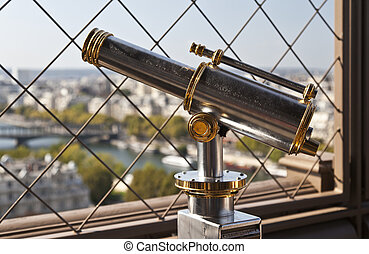 Monocular Telescope - View of monocular telescope at Eiffel...