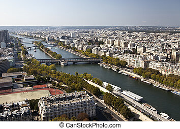 Paris View - The Seine River view from the Eiffel Tower