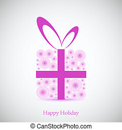 Flowers gift for your holiday. Vector background. Best choice