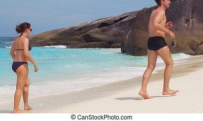 couple on the summer beach