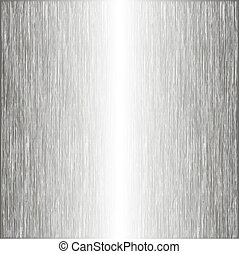 Brushed metal, template background. Vector illustration