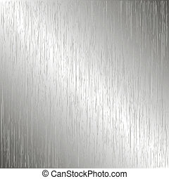 Brushed metal, template background Vector illustration