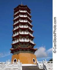 Traditional Chinese Pagoda in Southern Taiwan