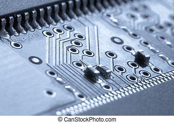 electrónico, circuito, tabla