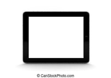 Tablet - A black tablet isolated on white