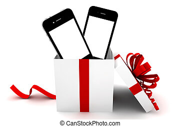 Two phones in a gift