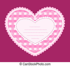 Card with applique heart.