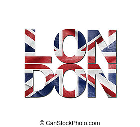London The image of the city name with the state symbols