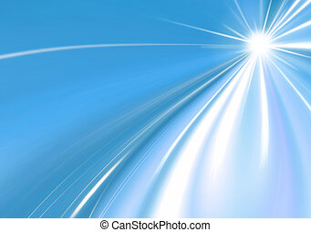 abstract background blue star