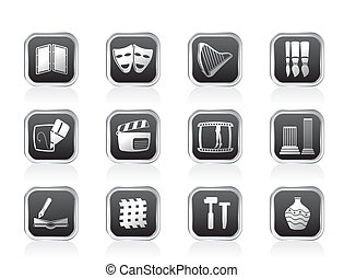different kind of Arts Icons - Vector Icon Set
