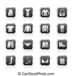 Clothing and Dress Icons - Vector Icon Set