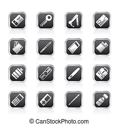Simple Vector Object Icons - Vector Icon Set