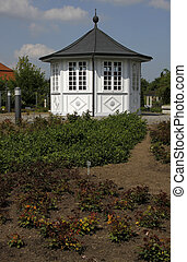 Small pavilion in the Rose Garden of Bad Langensalza