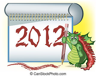 A dragon with 2012