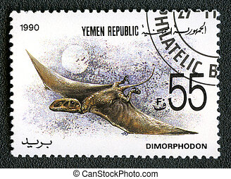 YEMEN REPUBLIC - CIRCA 1990: A stamp printed in Yemen shows...